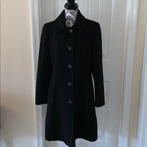 Anne Klein Black Wool Coat
